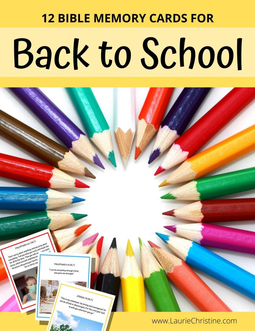 back to school bible memory cards